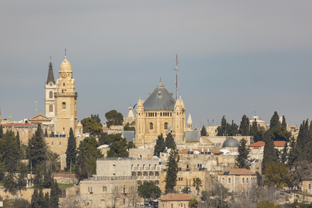Abbey Dormitsion on the mount Zion in old city Jerusalem