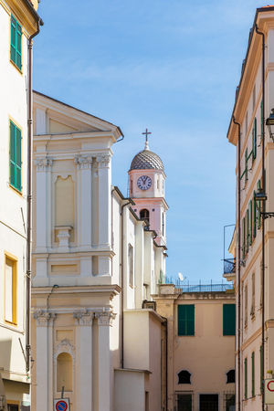 Bell tower fo the Church of Santo Stefano in Sanremo, Italy