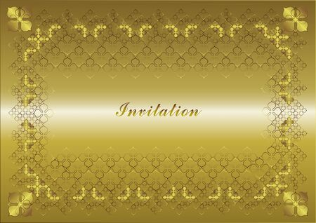 frame gold decoration