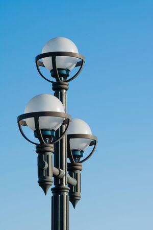Streetlights on Blue Sky