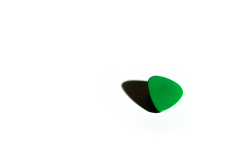 pick: Green Guitar Pick Stock Photo