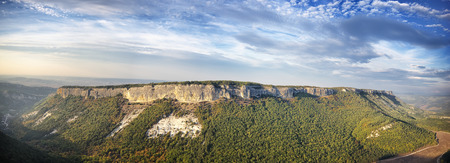 Mountain plateau panorama landscape. Composition of nature Stock Photo