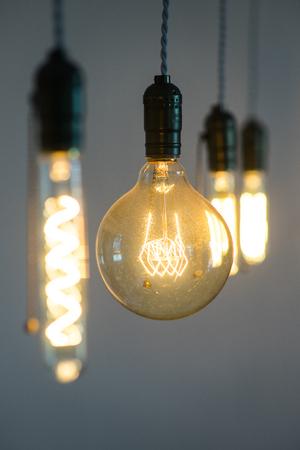 edison: Edison Lightbulbs Stock Photo