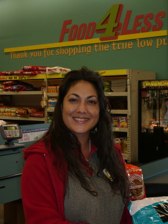 Melissa, a cashier of Food 4 Less Editorial