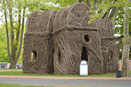 E T S U - Artistic structure made from plant material - Johnson City, Tennessee, U S A Editorial