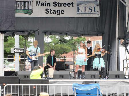 Johnson City, Tennessee / United States: 06-08-2013 - Blue Plum festival - Musical performance