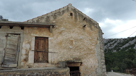 paklenica: Old house, Starigrad-Paklenica, Croatia Editorial