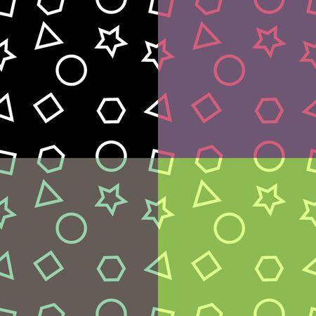 basic shapes background seamless pattern