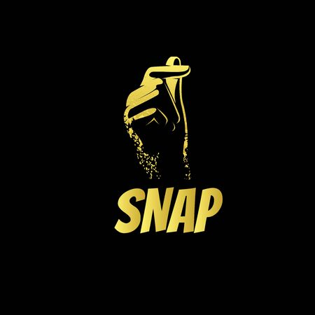 gold snap logo with hand illustration