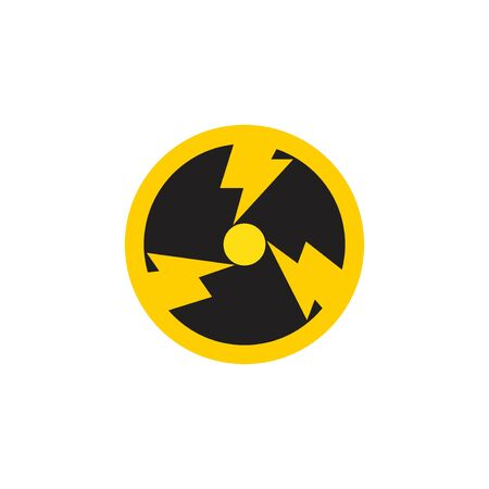 circle nuclear enegry logo icon vector template