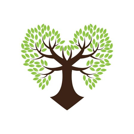 love tree hearth for tree care company Иллюстрация