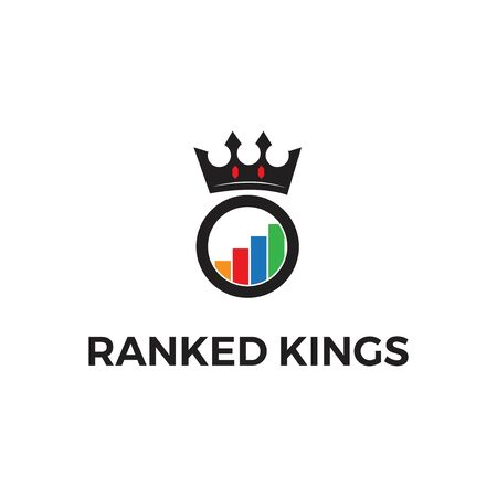 ranked king logo vector template