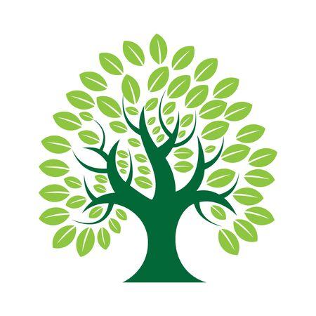 simple and modern trees natural logo illustration ЛОГОТИПЫ