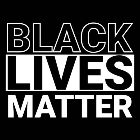 black lives matter vector typography