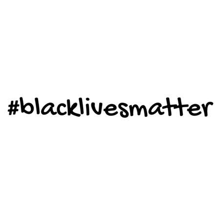 handwritten hastag black lives matter vector 스톡 콘텐츠 - 150351631