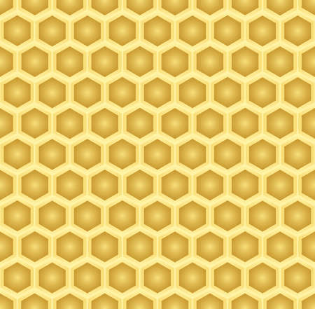 gold honeycomb vector pattern background