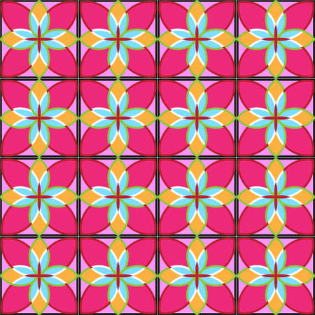 beautiful colorful flower vector pattern 스톡 콘텐츠 - 151129449