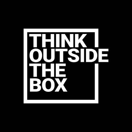 think outside the box typography quotes vector 스톡 콘텐츠 - 150820168