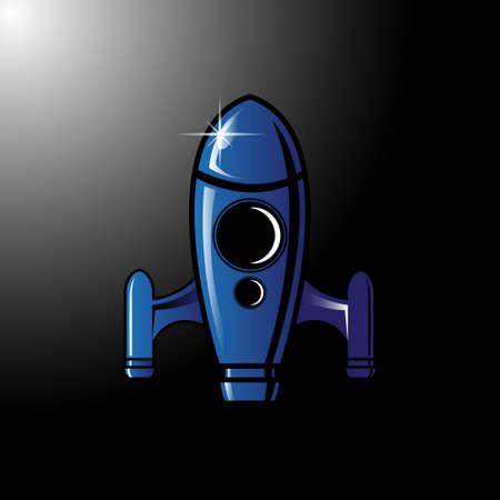 rocket logo icon symbol vector with cartoon style 스톡 콘텐츠 - 150820170