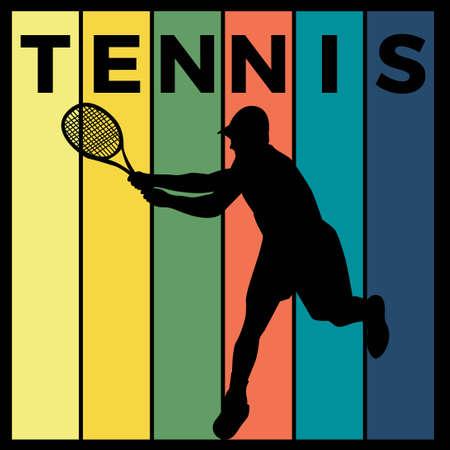 tennis silhouette sport activity vector graphic 스톡 콘텐츠 - 150659108