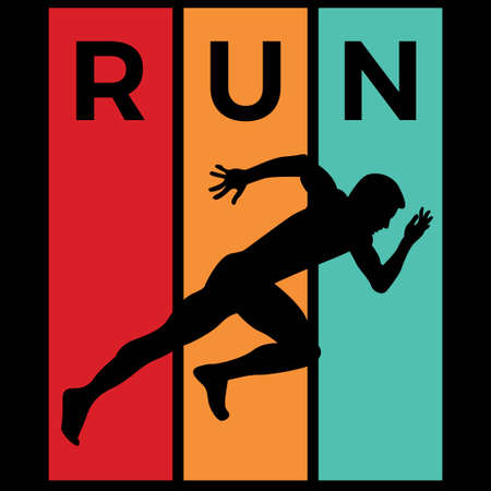 running silhouette sport activity vector graphic 스톡 콘텐츠 - 150658486