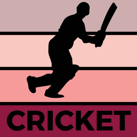 cricket silhouette sport activity vector graphic 스톡 콘텐츠 - 150659564