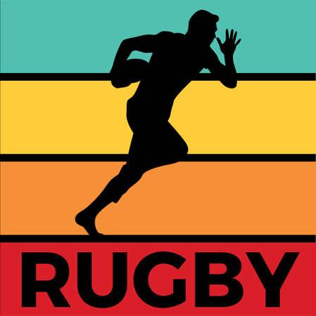 rugby silhouette sport activity vector graphic Vecteurs