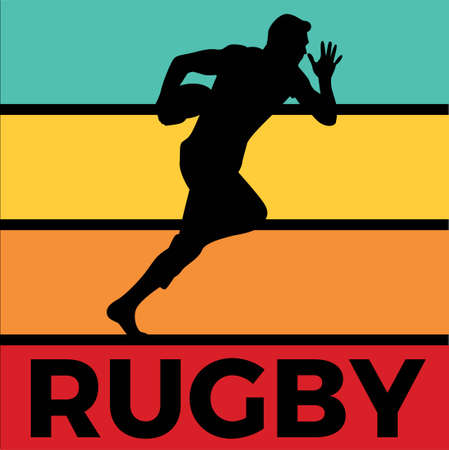 rugby silhouette sport activity vector graphic Vector Illustration