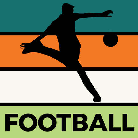 football silhouette sport activity vector graphic