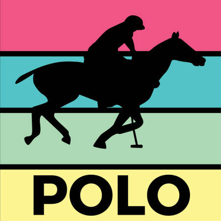polo silhouette sport activity vector graphic 스톡 콘텐츠 - 150659965