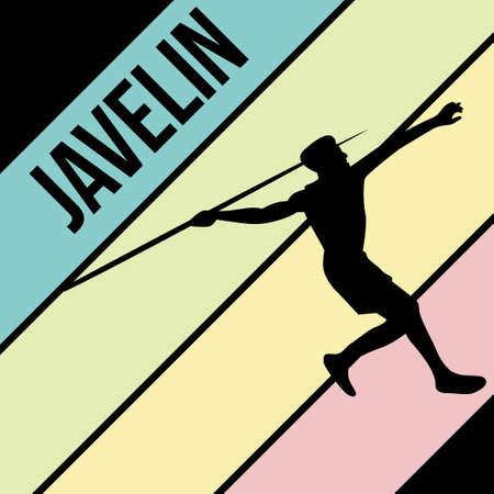 javelin silhouette sport activity vector graphic 일러스트