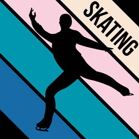 skating silhouette sport activity vector graphic 일러스트