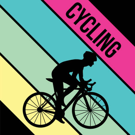 cycling silhouette sport activity vector graphic 일러스트