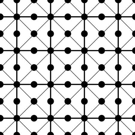 black and white circle dot vector pattern 스톡 콘텐츠 - 151188223