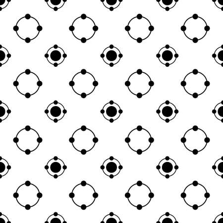 black and white circle dot vector pattern 스톡 콘텐츠 - 151187854