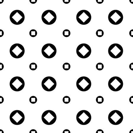 black and white circle dot vector pattern 스톡 콘텐츠 - 151187855