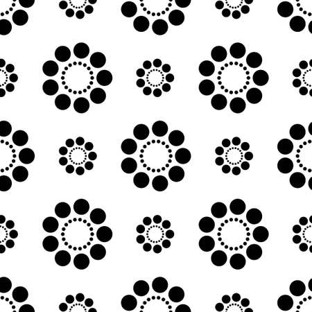 black and white circle dot vector pattern 스톡 콘텐츠 - 151187856