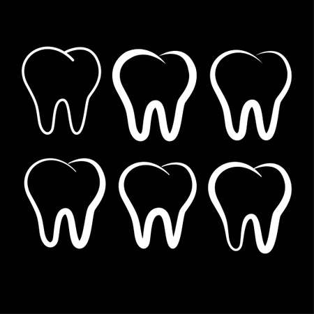teeth dentist dental clinic logo symbol icon vector template 일러스트