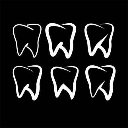 teeth dentist dental clinic logo symbol icon vector template  イラスト・ベクター素材