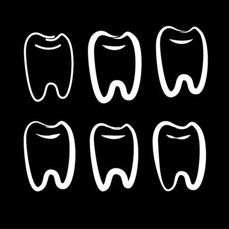 teeth dentist dental clinic logo symbol icon vector template 스톡 콘텐츠 - 151844318