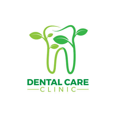 green eco herb dental care clinic logo