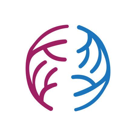 circle colorful reef logo vector template 일러스트
