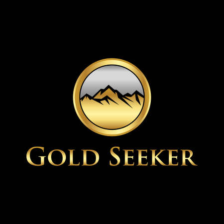 circle mountain gold seeker logo template