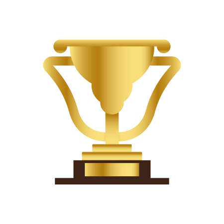 luxury gold trophy symbol logo illustration vector template