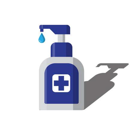 blue hand sanitizer pump bottle washing gel vector illustration 일러스트