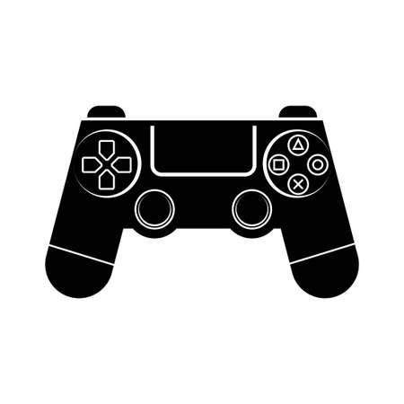 black game controller icon symbol logo vector