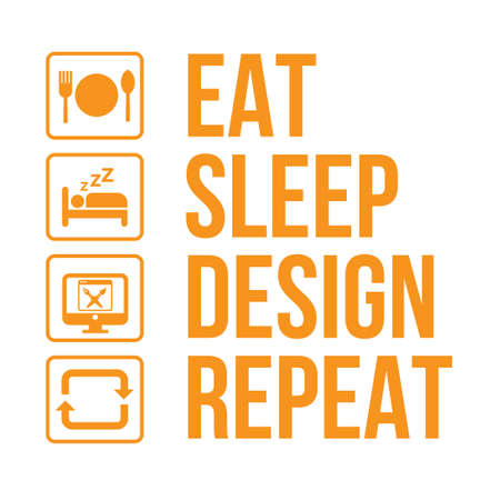graphic designer daily activity life infographic vector 일러스트