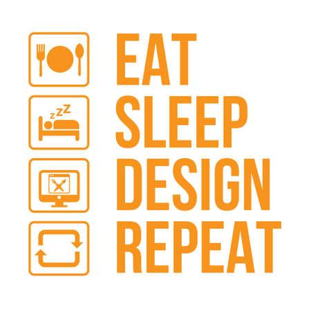 graphic designer daily activity life infographic vector  イラスト・ベクター素材
