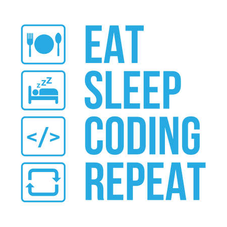 programmer daily activity life infographic vector
