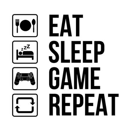 gamer daily activity life infographic vector